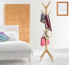 quality coat rack modern simple bamboo clothes hanger coatrack