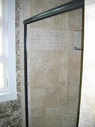 modern framed glass shower door design with black steel frame and