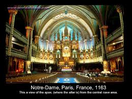 romanesque and gothic art the period of medieval art referred to 36 notre dame paris france 1163 this a view of the apse where the altar is from the central nave area