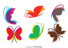 flying butterfly icons free vector stock graphics