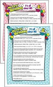 Dinner Party Question Games - 1st birthday party games and activities