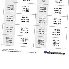 subtracting positive and negative numbers worksheets u0026 integers