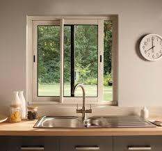 cuisine fenetre fenêtre coulissante en aluminium haute isolation blanc l 100 x h