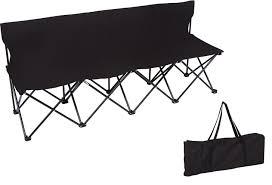 amazon com portable 4 seater folding team sports sideline bench