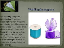 create wedding programs online buy wedding fans and fan programs online with a reasonable price