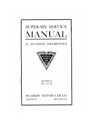 1916 1918 hudson super six service manual