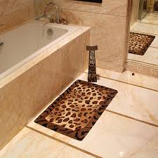 Bath Towels And Rugs Leopard Bathroom Rug Roselawnlutheran