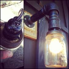 diy mason jar light with iron pipe diy mason jar porch light black iron pipe for the arm diy home
