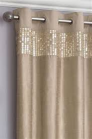 Glitter Curtains Ready Made Woven With A Stunning Jacquard Featuring A Classic Ogee Pattern