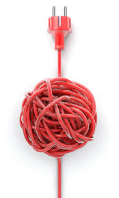 plug with knotted cable stock illustration image 56456278