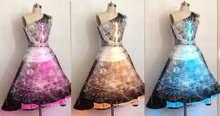 dress design images shenova fashion interactive particle physics dress with leds and