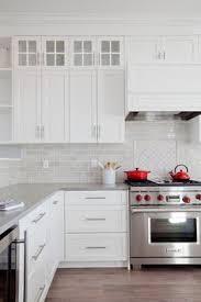 white kitchen backsplash tiles smoke glass subway tile white shaker cabinets shaker cabinets
