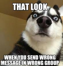 Funny Memes To Send - meme maker that look when you send wrong message in wrong group