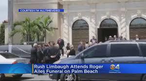 rush limbaugh thanksgiving story rush limbaugh attends roger ailes u0027 funeral on palm beach cbs miami