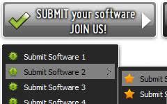 pull down menu iweb template