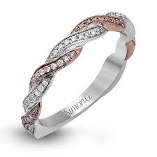 gold wedding band 18k white gold twisted design wedding band fabled collection