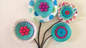 how to create adorable cupcake liner flowers diy crafts tutorial