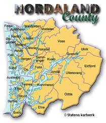map of county county hordaland