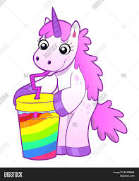 cocktail vector unicorn drinks rainbow cocktail vector u0026 photo bigstock