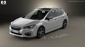 2016 subaru impreza hatchback 360 view of subaru impreza 5 door hatchback 2016 3d model hum3d