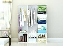 Cloth Closet Doors Cloth Storage Wardrobe Bedroom Coat Closet Small White Wardrobe