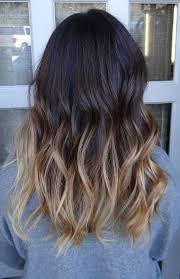 ombre brown to blonde medium length