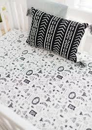black and white woodland crib sheet crib sheets baby crib sheets