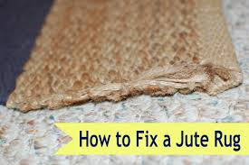 how to fix a jute rug if i can do it you can too yankee homestead
