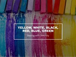 yellow white black red blue green