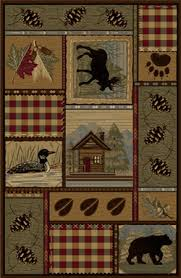 Moose Area Rugs Rustic Lodge Cabin Rugs Cabin 9 Design