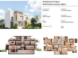multi family apartment plans aia multi family housing in algiers