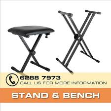 Keyboard Stand And Bench Qoo10 Top Seller Portable Piano Keyboard Piano Stand Bench
