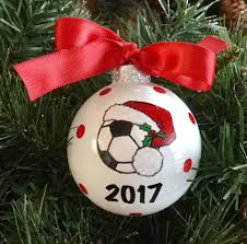 personalized painted sports glass ornaments soccer ornament