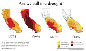 california map drought northern california relieved from five year drought the redwood bark