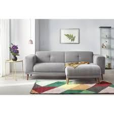 photo canapé bobochic canapé avec pouf style scandinave gris clair