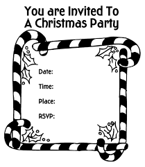 coloring pages of printable christmas party candy canes invitation