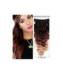 remy human hair extensions 20 ombre color 9 pieces wave clip in remy human hair