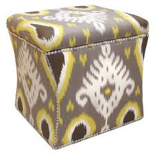 Ikat Storage Ottoman Yellow Storage Ottoman Facil Furniture