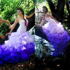 ombré wedding dress 2015 gorgeous ombre purple mermaid wedding dresses fit and flare