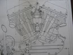 2 harley davidson panhead engine blueprint transmision flh v2 v