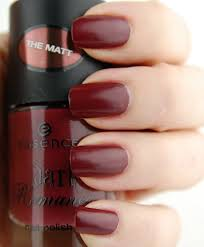 notd essence dark romance collection nail polish in red romance