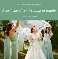 Green Dresses For Weddings A Seafoam Green Wedding In Baguio Philippines Wedding Blog