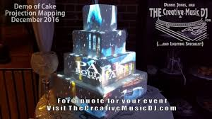 cake projection mapping demo san diego wedding professionals