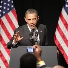 Barack Obama Flag President Barack Obama Visits Dearborn