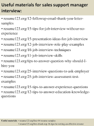 sample resume of manager top 8 sales support manager resume samples