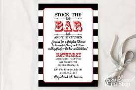 stock the bar invitations stock the bar and kitchen couples shower printable invitations
