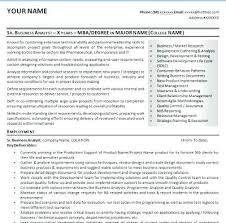 Free Template Resume Download Business Analyst Resume Templates Samples Junior Marketing Analyst