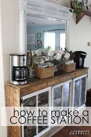 how to make a coffee station repurposed items coffee stations