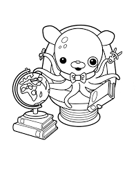 octonauts coloring pages professor inkling coloringstar