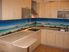 led digital kitchen backsplash printed glass splash back not this design but love the idea